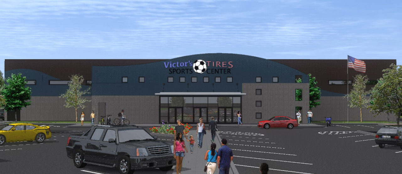 Architects for Sports Complex, Storefront glass