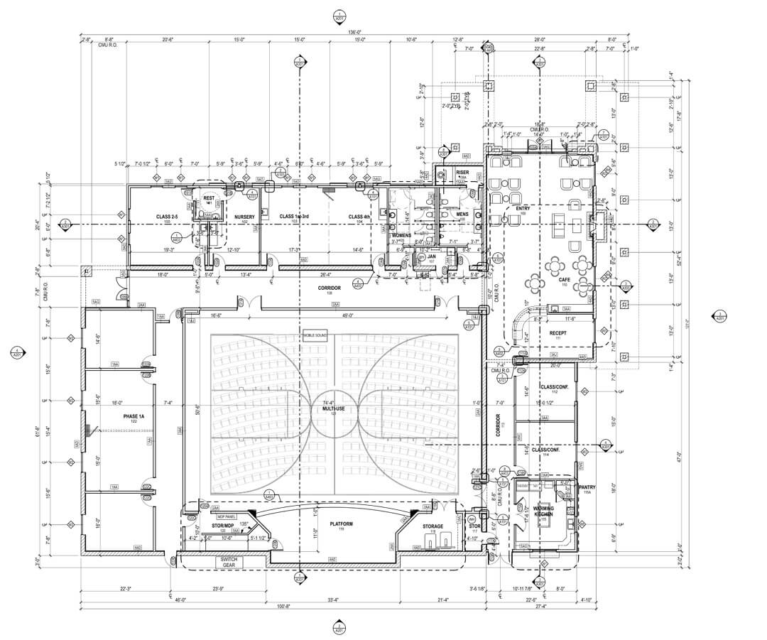 Canyon springs church and community center for Floor plan church