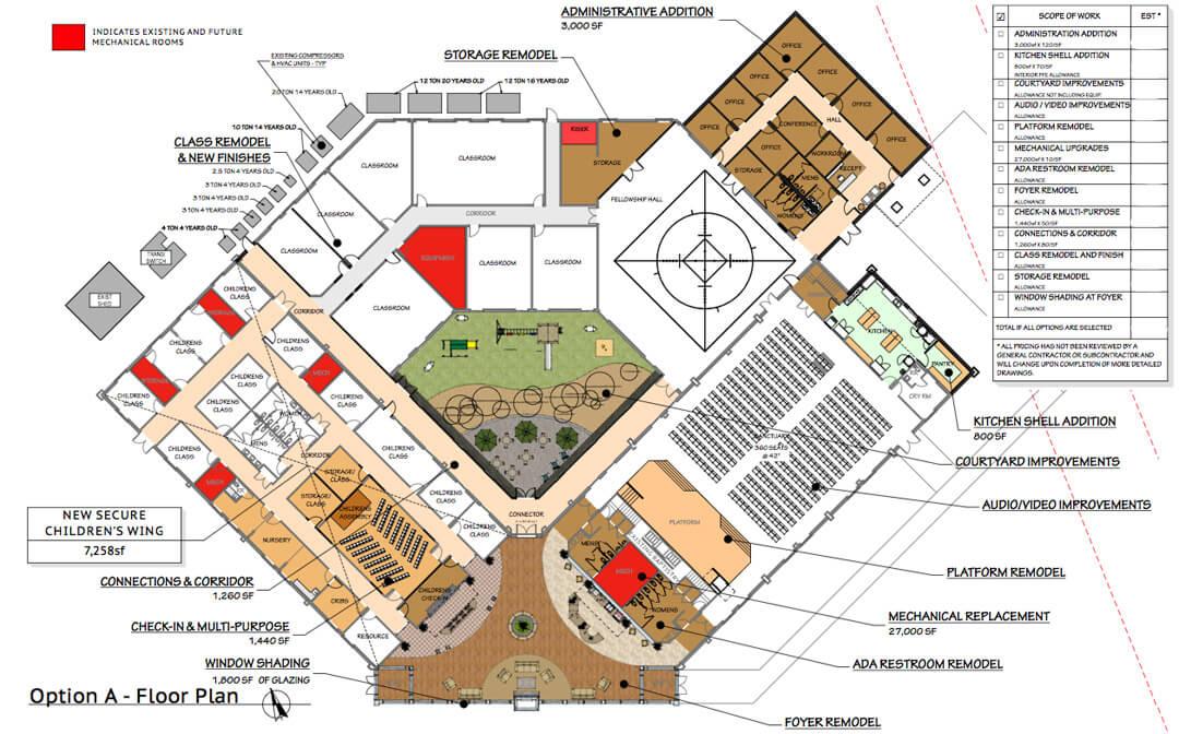 Church Renovation, Mountain View Baptist Church, Church Renovation, Mountain West Architects, Layton Utah