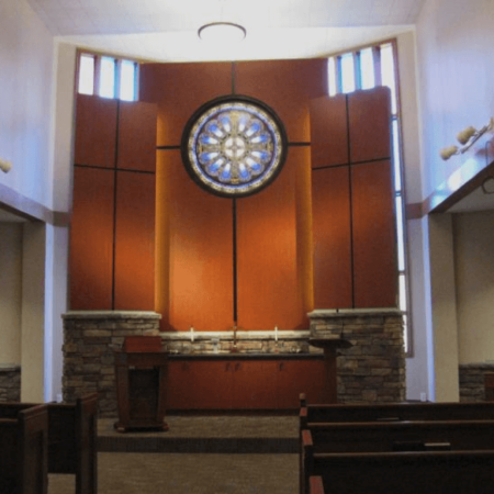Church Renovation, Pulpit, Stained Glass