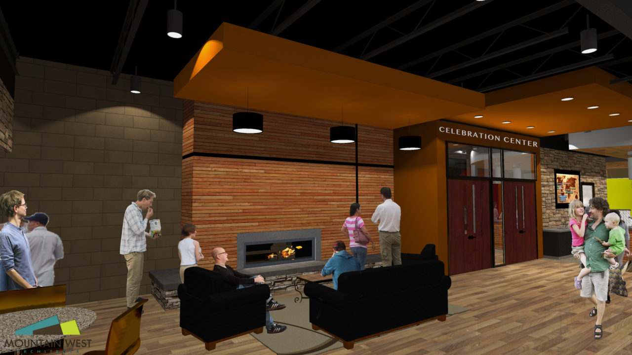 Church Renovation, Master planning, Children secure check-in, medium size church, Mountain West Architects