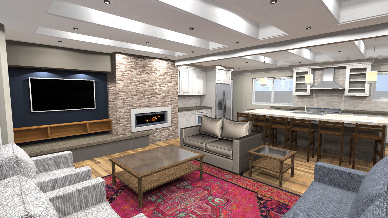 East Bench Ogden UT Contemporary Residential Renovation, Mountain West Architects, large kitchen island