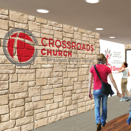 Rendering for Crossroads Church. Copyright 2017, Mountain West Architecture.