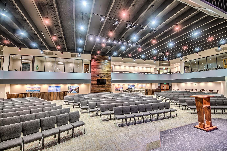 Picture of Pulpit Rock Auditorium Renovation. Copyright 2017 Mountain West Architecture.