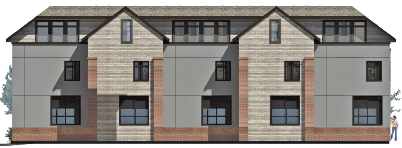 Apartment buildings in Ogden. living spaces in Ogden, brick exterior, wood siding, balcony areas. Vertical windows